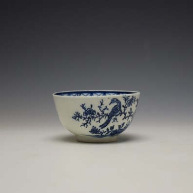 Lowestoft Two Peacock and Peony Pattern Teabowl and Saucer c1775-85 (3)