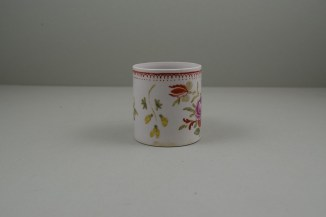 Bow Porcelain Hand Painted Pink Rose and Flower Sprays Coffee Can, C1760 (2)