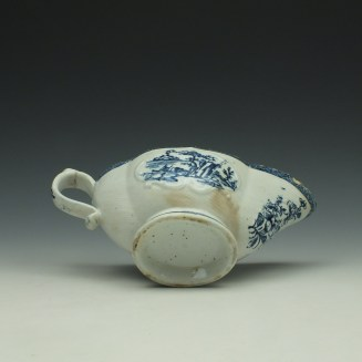 Derby Fisherman and Landscape Pattern Sauceboat c1765 (9)