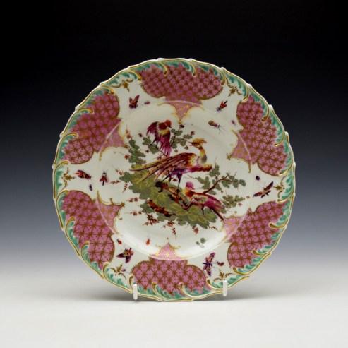 Derby Porcelain Fancy Bird Pattern Plate c1760 (1)