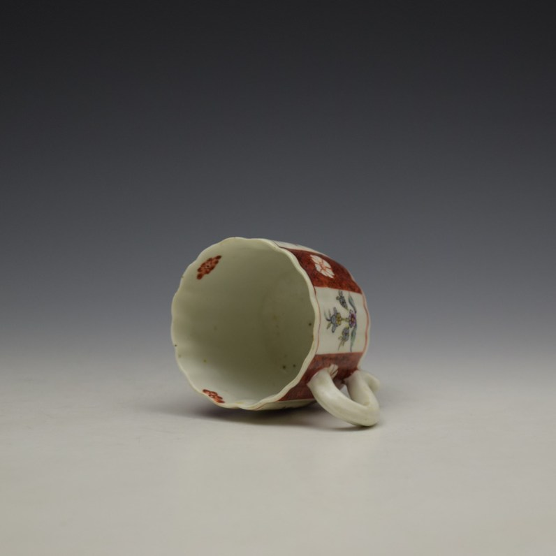 Derby Porcelain Scarlet Japan Mandarin Pattern Coffee Cup and Saucer c1758-80 (9)