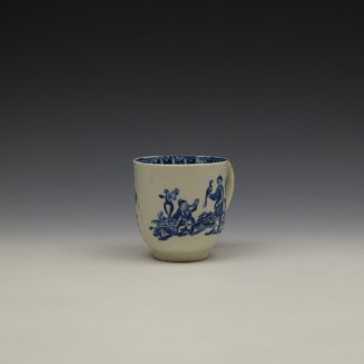 Liverpool John and Jane Pennington Chinese Lady With Boy and Bird Pattern Coffee Cup c1780-90 (2)