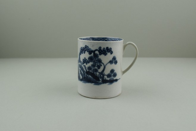 Liverpool Porcelain Pennington's Cannonball Pattern Coffee Can. 1