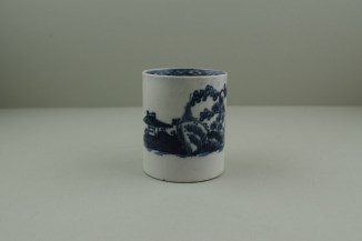 Liverpool Porcelain Pennington's Cannonball Pattern Coffee Can. 2