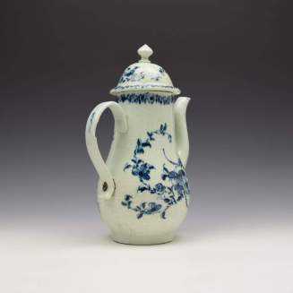 Liverpool Richard Chaffers Floral Mould Pattern Coffee Pot and Cover c1760 (6)