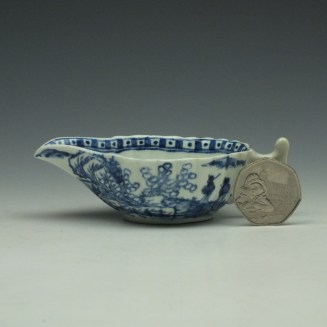 Vauxhall Two Men on a Rocky Island Pattern Butterboat c1757-62 (3)