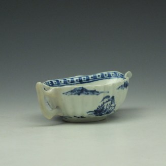 Vauxhall Two Men on a Rocky Island Pattern Butterboat c1757-62 (7)