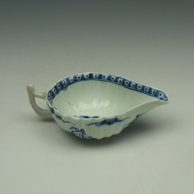 Vauxhall Two Men on a Rocky Island Pattern Butterboat c1757-62 (9)