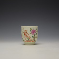 Worcester Bird Perched on Rock Pattern Coffee Cup c1768-75 (2)