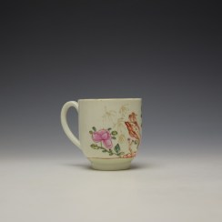 Worcester Bird Perched on Rock Pattern Coffee Cup c1768-75 (3)