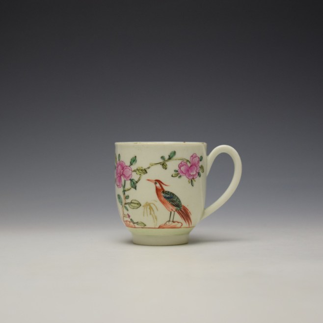 Worcester Bird Perched on Rock Pattern Coffee Cup c1768-75 (8)