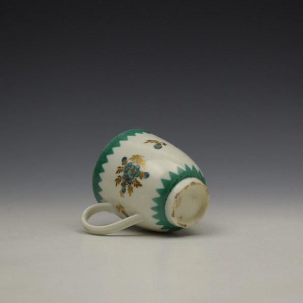 Worcester Green Floral Pattern Coffee Cup c1770 (8)