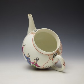 Worcester Mandarin Fish Monger Boy In the Window Pattern Teapot and Cover c1775-80 (9)