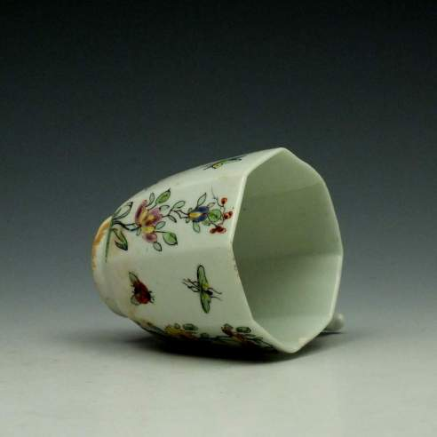 Worcester Octagonal Floral Pattern Coffee Cup c1752-53 (8)