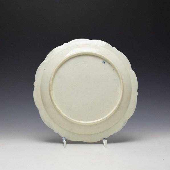 Worcester Pinecone Pattern Dessert Plate c1770-80 (2)