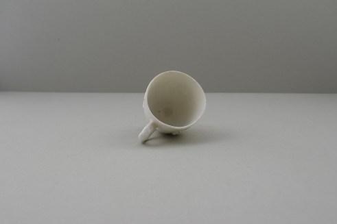 Bow Porcelain Blanc de Chine Molded Coffee cup, C1756. 8