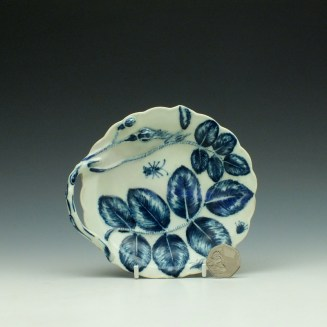Worcester Blind Earl Pattern Sweetmeat Dish c1765 (1a)