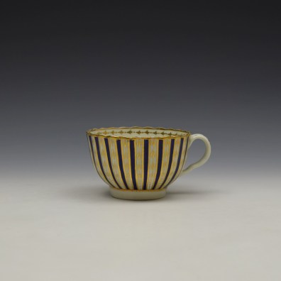 Blue and Gold Arrow and Dot Pattern Trio c1775-85 (7)