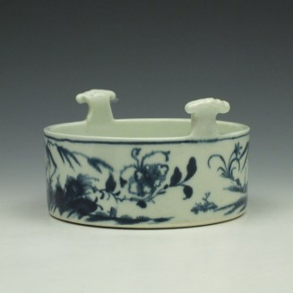 Worcester Candle Fence Pattern Butter Tub c1765 (3)