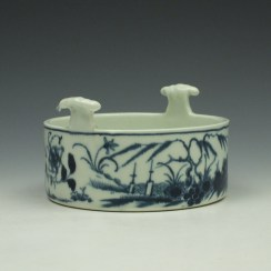 Worcester Candle Fence Pattern Butter Tub c1765 (5)