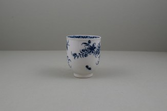 Caughley Porcelain Printed Peony Pattern Coffee Cup, C1778-85.3