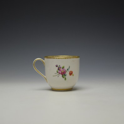 Chelsea Derby Floral Pattern Coffee Cup c1768-70 (3)