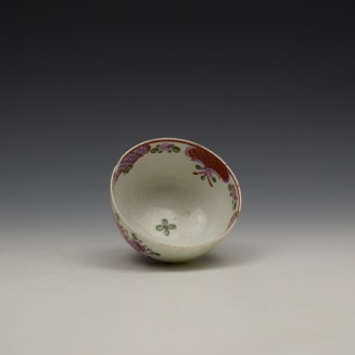 Lowestoft Curtis Floral and Red Border Pattern Teabowl c1780-90 (5)