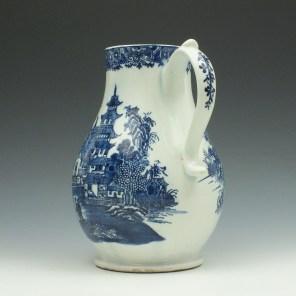 Lowestoft Porcelain Dark Landscape Pattern Coffee Pot, c1790 (5)