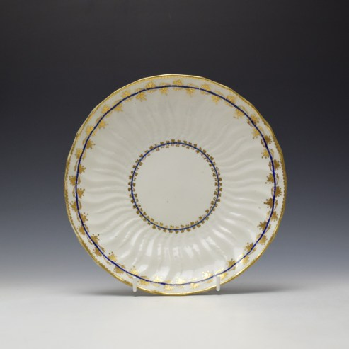 Derby Porcelain Moulded Saucer Dish c1770 (1)