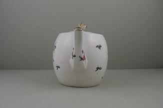 Derby Porcelain Rose pattern Barrel Shape Teapot and Cover (3)