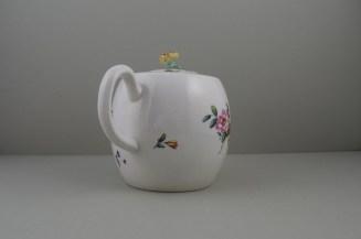 Derby Porcelain Rose pattern Barrel Shape Teapot and Cover (6)