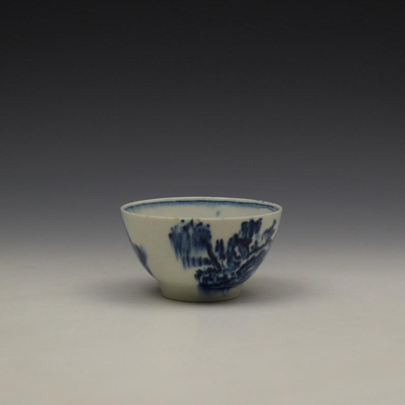 Lowestoft Dromedaries on a Raft Pattern Teabowl and Saucer c1770-80 (5)