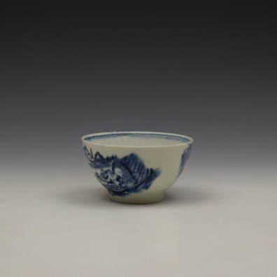 Lowestoft Dromedaries on a Raft Pattern Teabowl and Saucer c1770-80 (6)