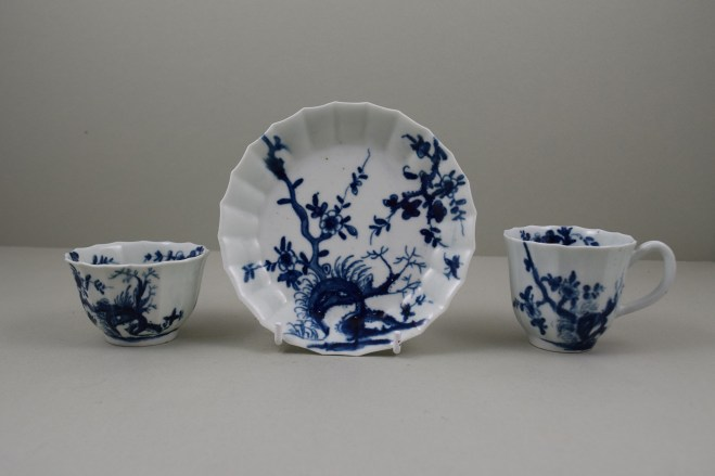 Worcester Dr Wall Period Prunus Root Pattern Fluted Trio, C1752-60 (1)