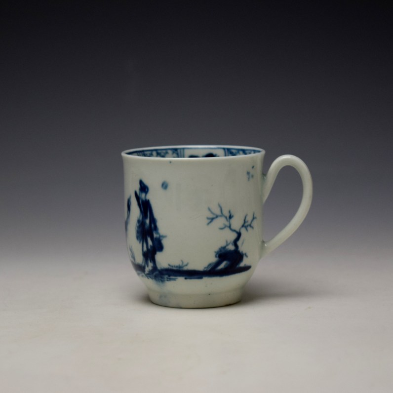 Worcester The Walk in a Garden Pattern Coffee Cup c1755-60 (1)