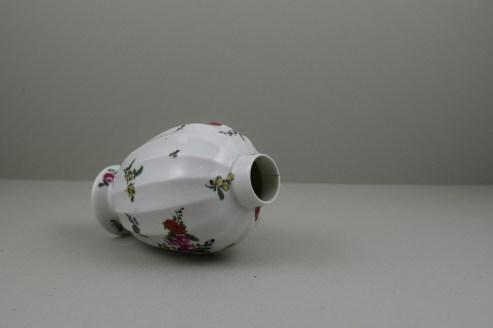 Worcester Porcelain European Flowers Pattern Fluted Tea Canister, C1765-68 (7)