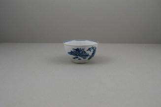 Worcester Porcelain Fence Pattern Teabowl and Saucer, C1765-80 (5)