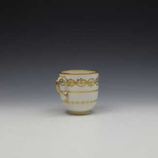 Derby Gilded Star Pattern Chocolate Cup and Stand c1782-1800 (6)