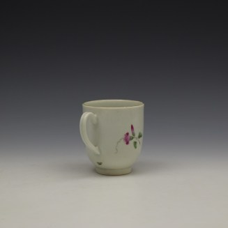 Worcester Floral Pattern Coffee Cup and Saucer c1770-80 Ex Jean Lucas Collection (7)