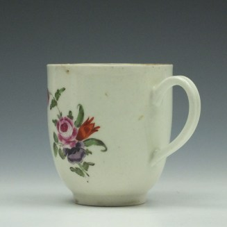 Worcester Porcelain Floral Pattern Coffee Cup c1775 (4)