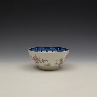 Worcester Floral Pattern Sugar Bowl c1770 (2)