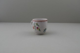 Bow Porcelain Flowers Pattern Coffee Cup, C1768-75. 3