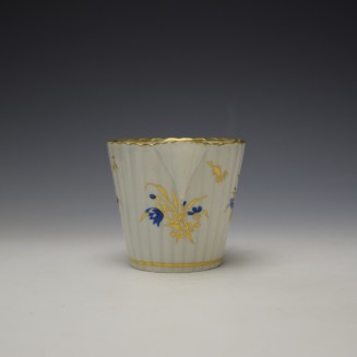 Caughley Gilded Floral Pattern Cream Jug c1785-95 (2)