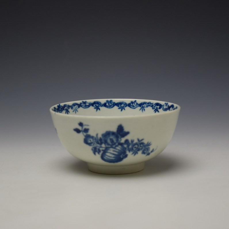 Worcester Fruit and Wreath Pattern Sugar Bowl c1775-80 (1)