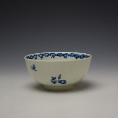 Worcester Fruit and Wreath Pattern Sugar Bowl c1775-80 (3)