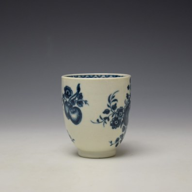 Worcester Fruit Sprigs Pattern Coffee Cup c1770-80 (2)