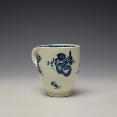 Worcester Fruit Sprigs Pattern Coffee Cup c1770-80 (3)