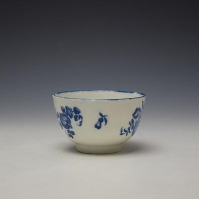 Worcester Fruit Sprigs Pattern Teabowl and Saucer c1775-80 (4)