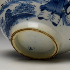 Bow Golfer and Caddy Pattern Breackfast Sized Teacup c1758-62 (10)