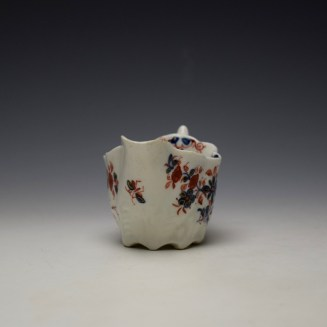 Lowestoft Imari Floral Pattern Low Chelsea Ewer c1775-85 (2)